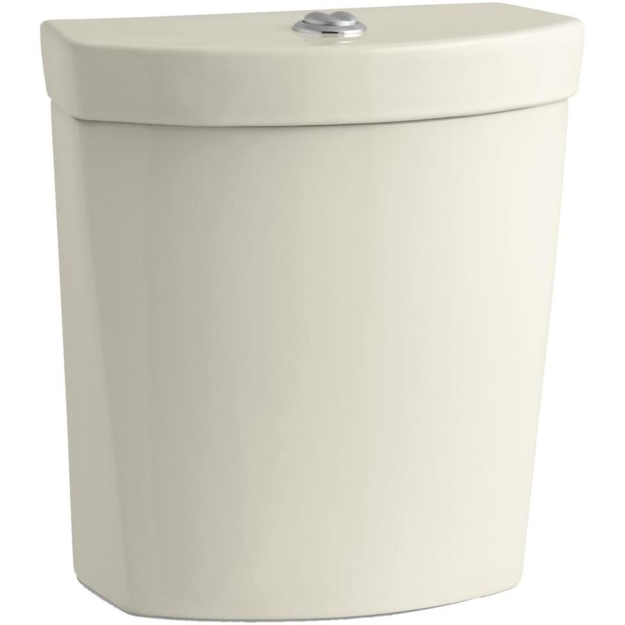 KOHLER Persuade Almond 1.6-GPF 12-in Rough-In Dual-Flush High-Efficiency Toilet Tank