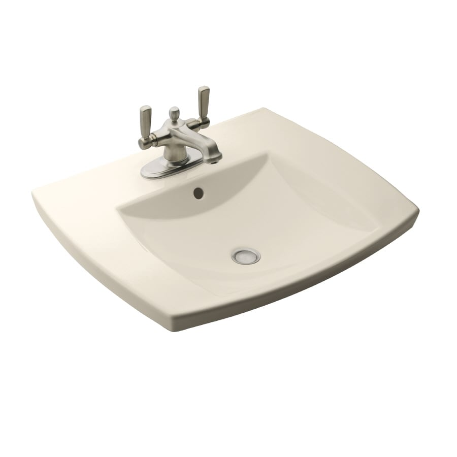shop kohler almond bathroom sink at
