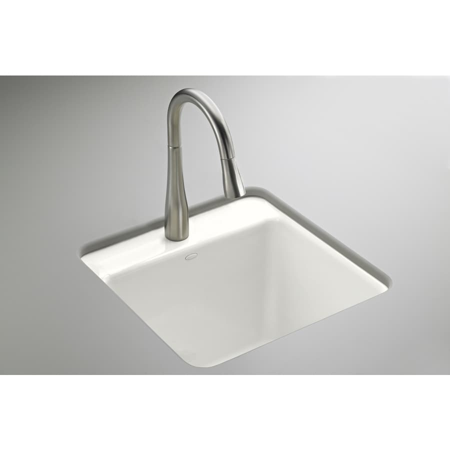 Undermount Utility Sink White : ... 17.5-in White Undermount Cast Iron Laundry Utility Sink at Lowes.com