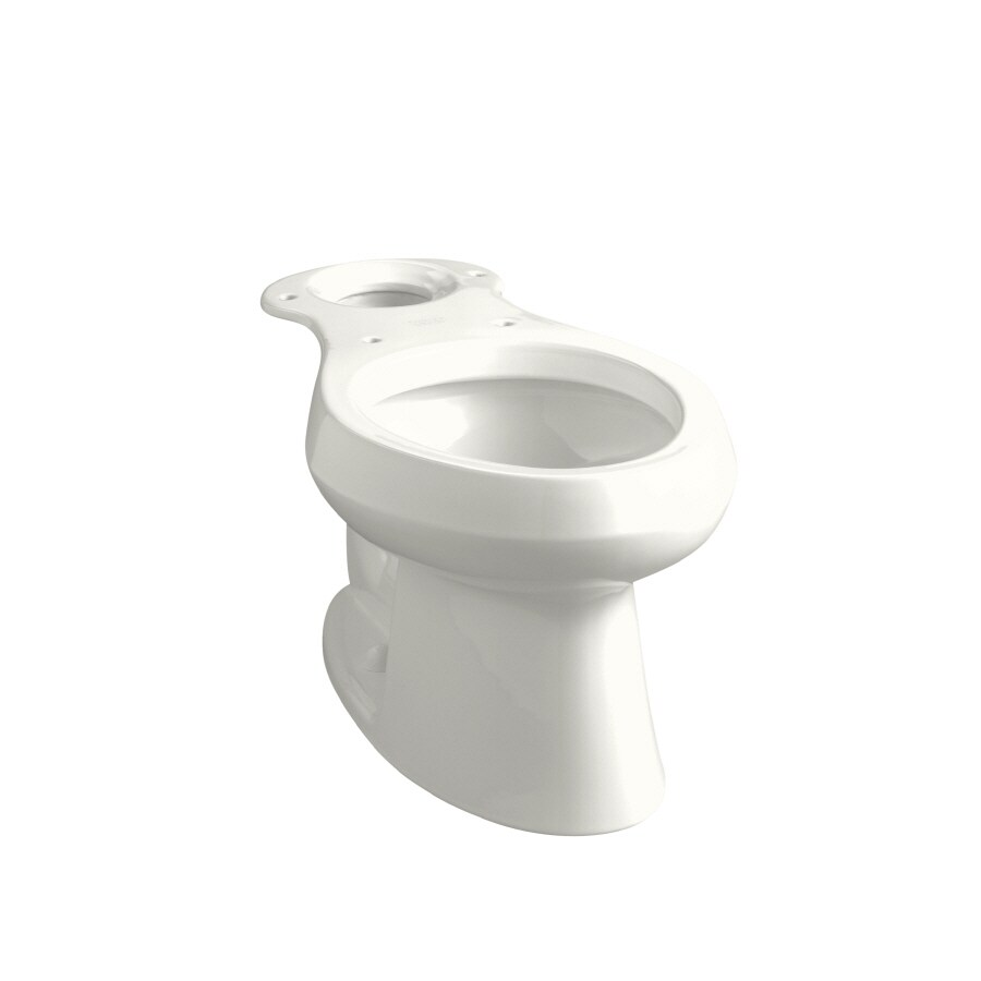 KOHLER Wellworth Standard Height White 12-in Rough-In Elongated Toilet Bowl