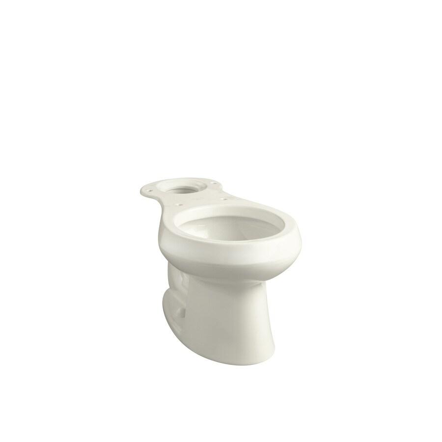 KOHLER Wellworth Standard Height Biscuit 12-in Rough-In Round Toilet Bowl