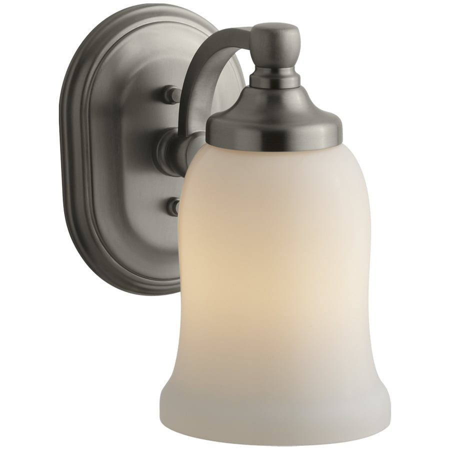 KOHLER Bancroft 4.5-in W 1-Light Vibrant Brushed Nickel Arm Hardwired Wall Sconce