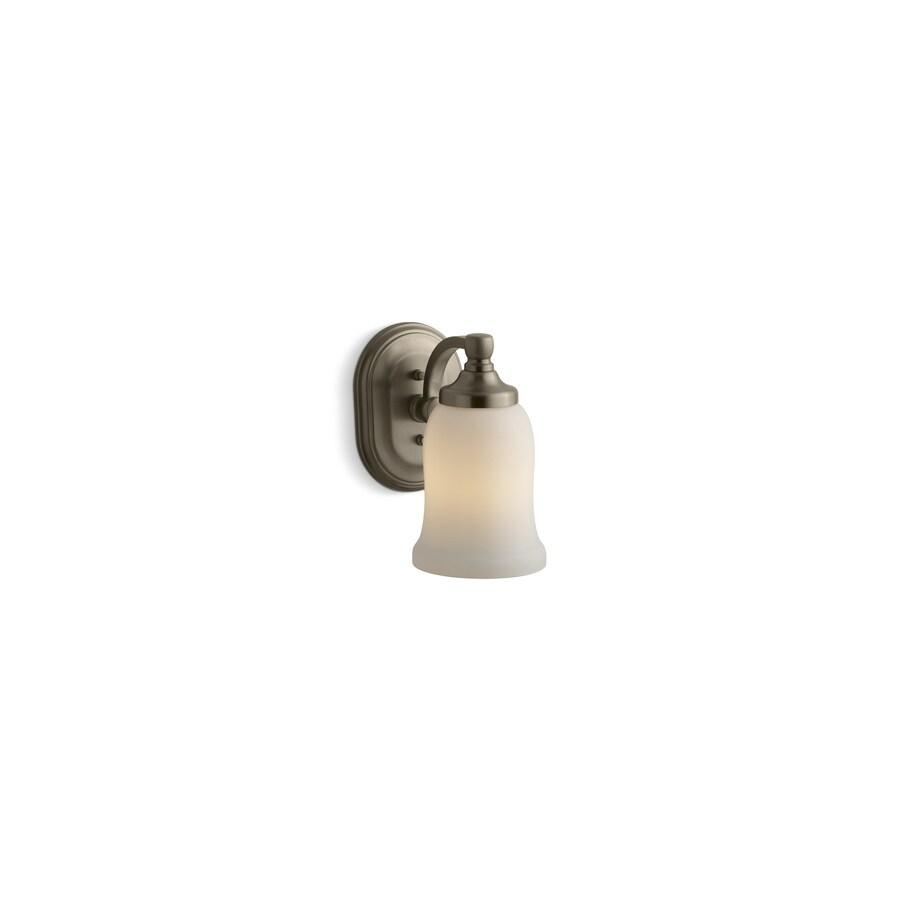 KOHLER Bancroft 4.5-in W 1-Light Vibrant Brushed Bronze Arm Hardwired Wall Sconce