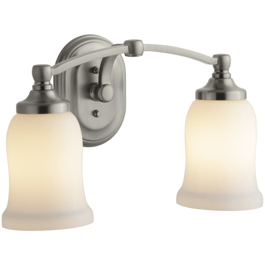 KOHLER Bancroft 6.75-in W 1-Light Vibrant Brushed Nickel Arm Hardwired Wall Sconce