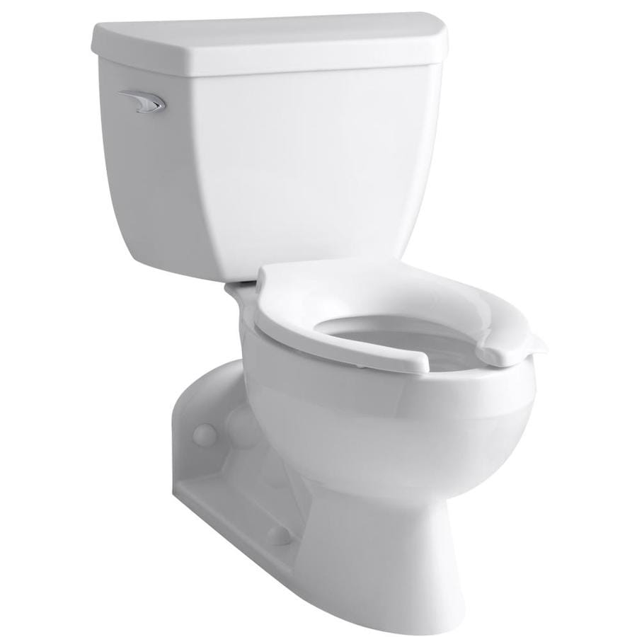 KOHLER Barrington White 1.1-GPF (4.16-LPF) 4 Rough-In WaterSense Elongated Pressure Assist 2-Piece Standard Height Rear Outlet Toilet