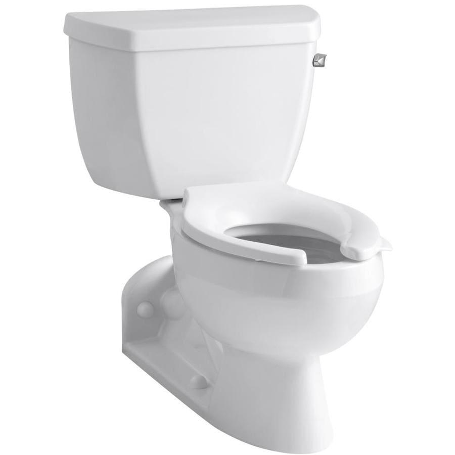 KOHLER Barrington White 1.1-GPF (4.16-LPF) 4 Rough-In WaterSense Elongated Pressure Assist 2-Piece Standard Height Rear Outlet Toilet