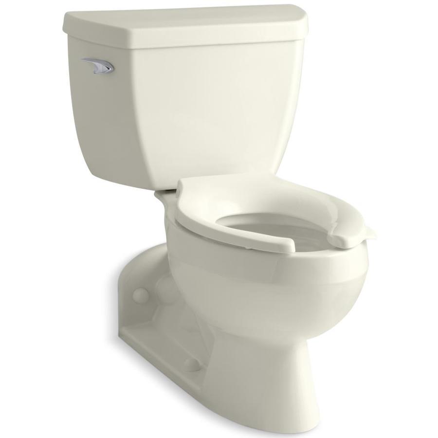 KOHLER Barrington Biscuit 1.1-GPF (4.16-LPF) 4 Rough-In WaterSense Elongated Pressure Assist 2-Piece Standard Height Rear Outlet Toilet