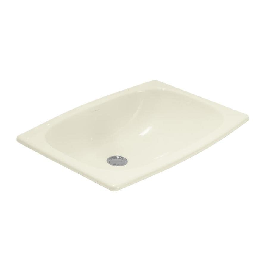Sterling Stinson Biscuit Drop-In Rectangular Bathroom Sink with Overflow