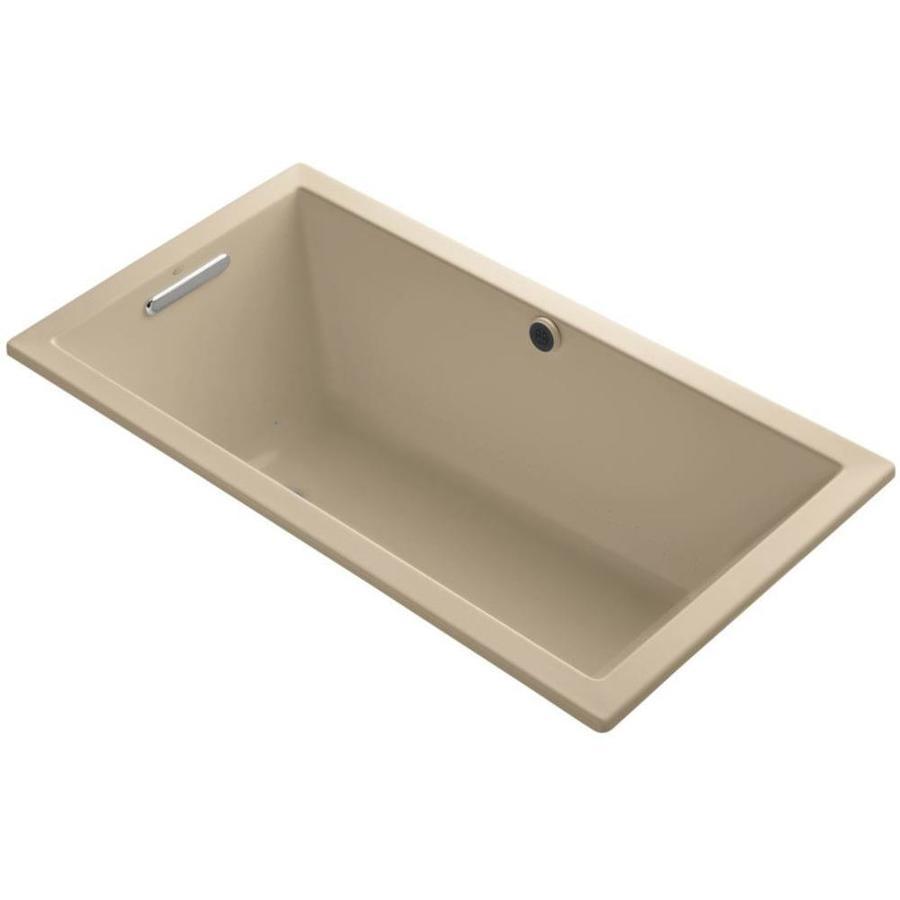 KOHLER Underscore 60-in L x 32-in W x 21-in H Mexican Sand Acrylic Rectangular Drop-in Air Bath