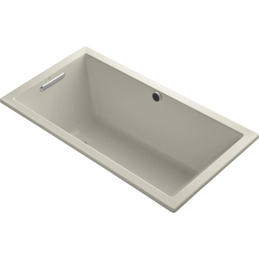 KOHLER Underscore 60-in L x 32-in W x 21-in H Acrylic Rectangular Drop-in Air Bath