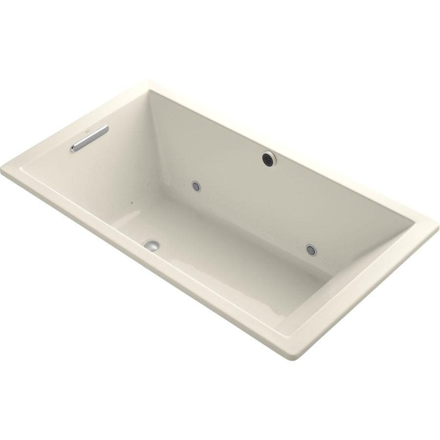 KOHLER Underscore 66-in L x 36-in W x 22-in H Acrylic Rectangular Drop-in Air Bath