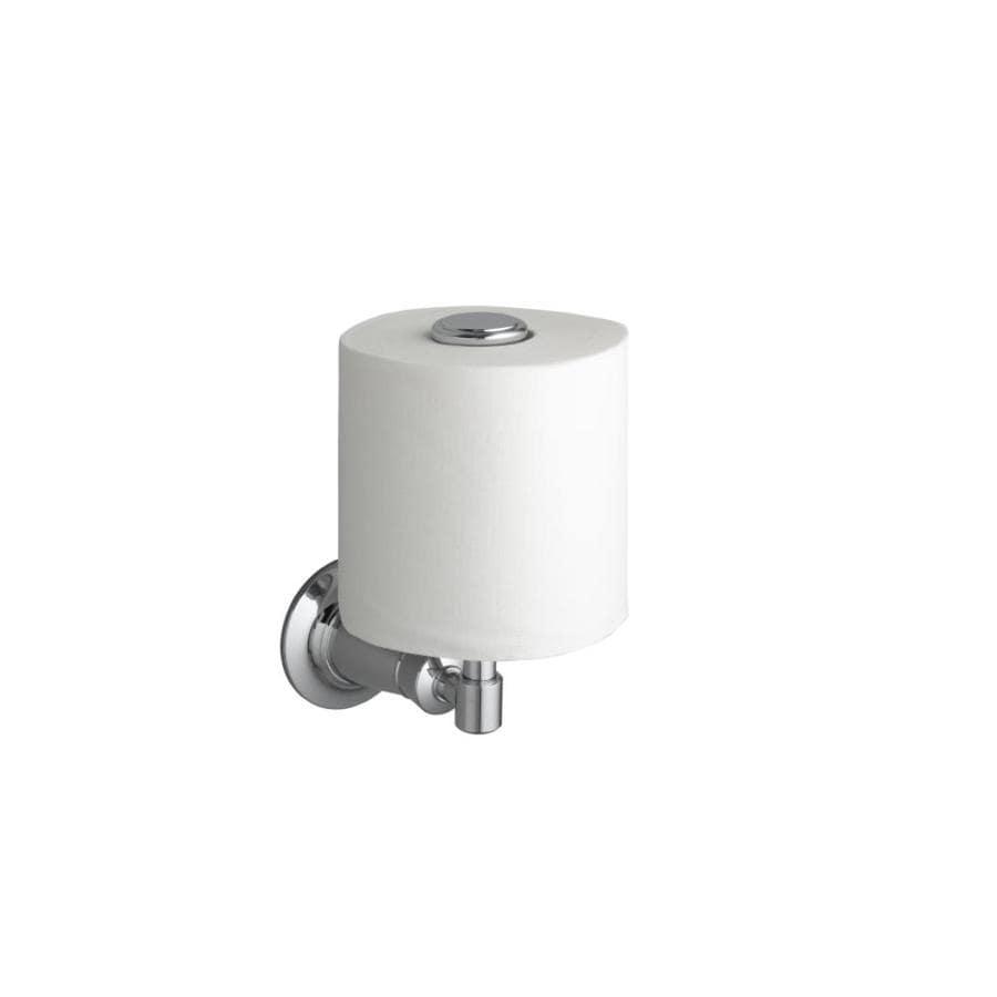 shop kohler archer polished chrome surface mount toilet paper holder at. Black Bedroom Furniture Sets. Home Design Ideas