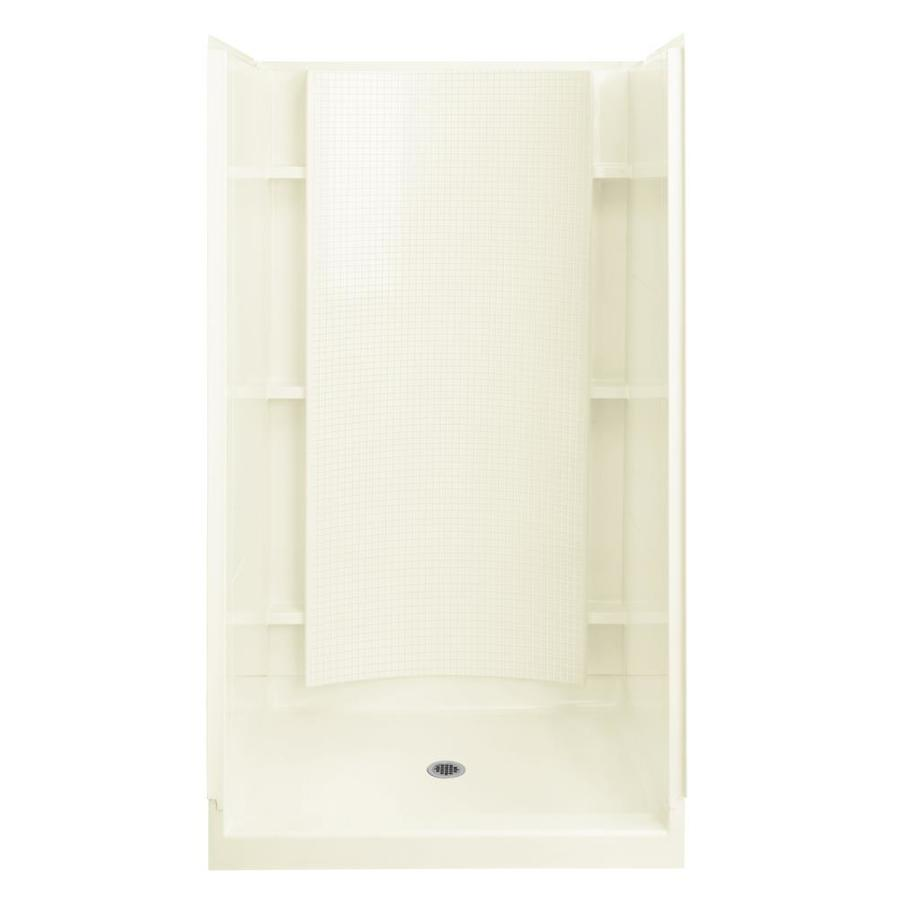 Sterling Accord Biscuit Vikrell Wall and Floor 4-Piece Alcove Shower Kit (Common: 36-in x 42-in; Actual: 77-in x 36-in x 42-in)