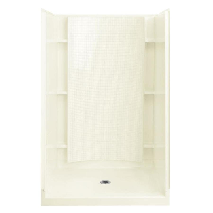 Sterling Accord Biscuit Vikrell Wall and Floor 4-Piece Alcove Shower Kit (Common: 36-in x 48-in; Actual: 77-in x 36-in x 48-in)