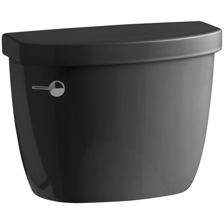 KOHLER Cimarron Black Black 1.6-GPF (6.06-LPF) 12-in Rough-In Single-Flush Toilet Tank