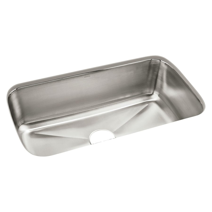 Shop Sterling Carthage 18 In X 32 In Satin Single Basin Stainless Steel Undermount Residential