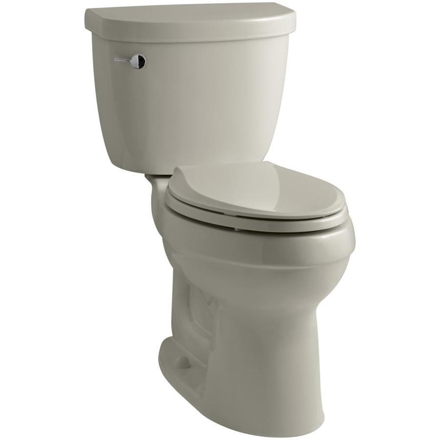 KOHLER Cimarron Sandbar 1.6-GPF (6.06-LPF) 12 Rough-In Elongated 2-Piece Chair Height Toilet