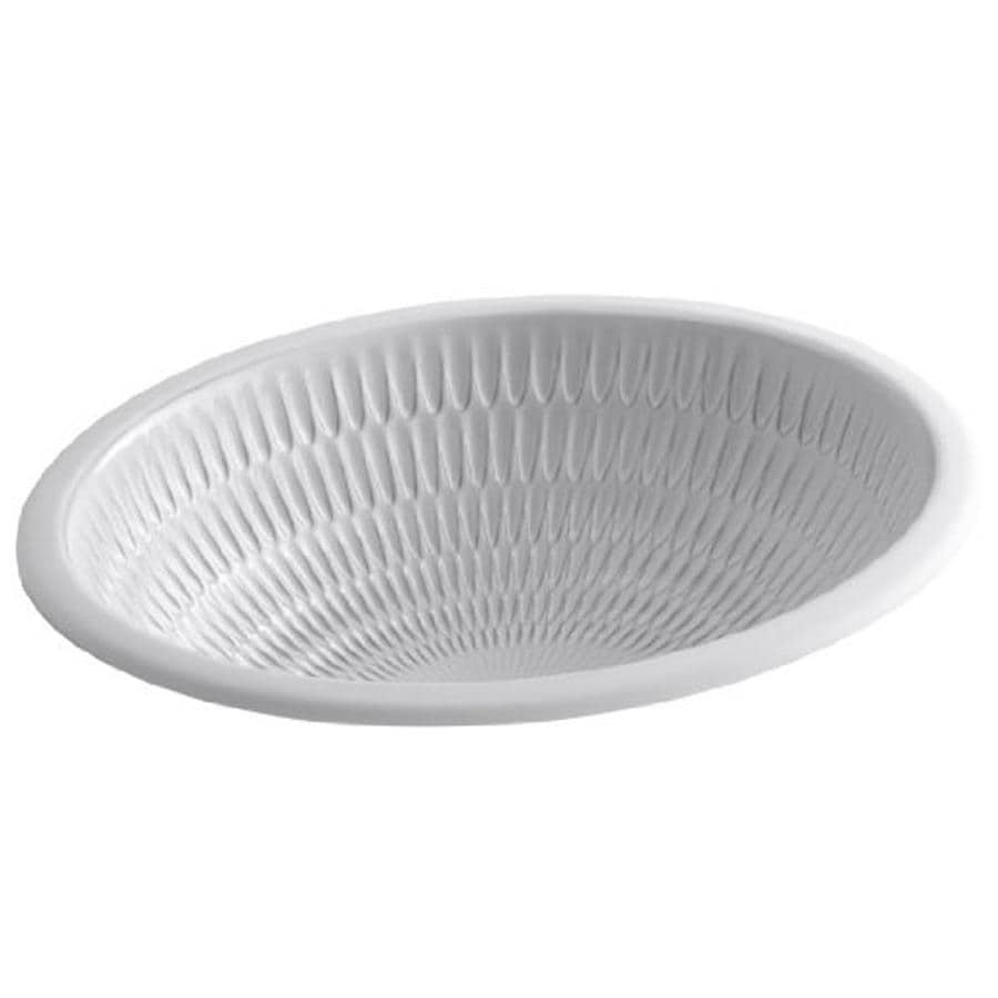 KOHLER Ricochet Earthen White Undermount Oval Bathroom Sink