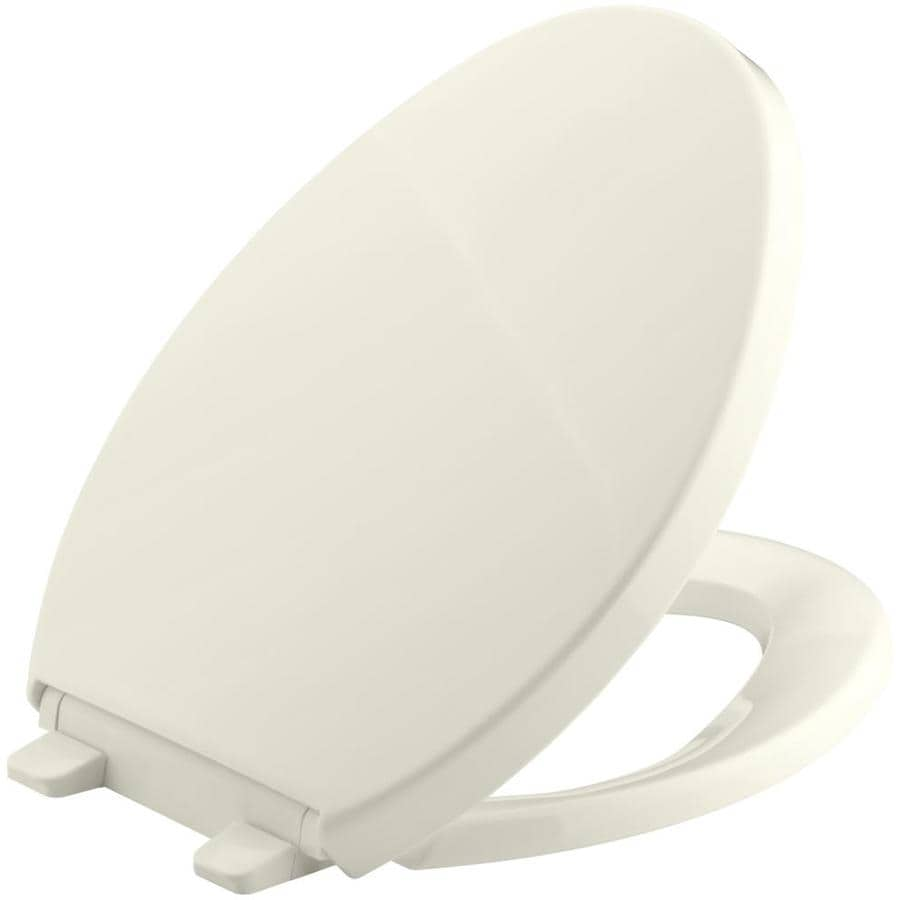 KOHLER Saile Biscuit Plastic Elongated Toilet Seat