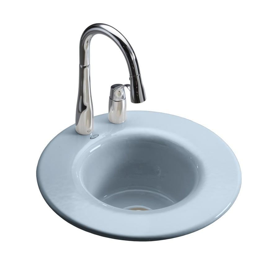 Kohler Bar Sink : Shop KOHLER Cordial Single-Basin Drop-in Enameled Cast Iron Bar Sink ...