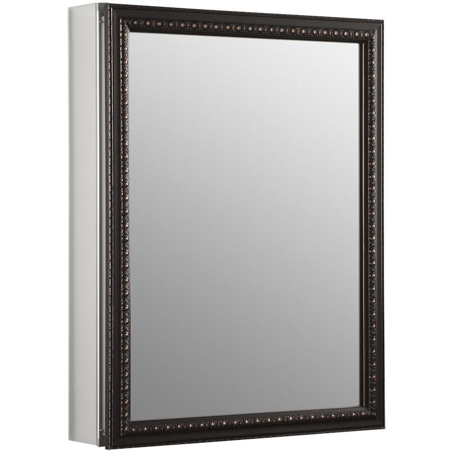 KOHLER 20-in x 26-in Rectangle Surface/Recessed Mirrored Aluminum Medicine Cabinet