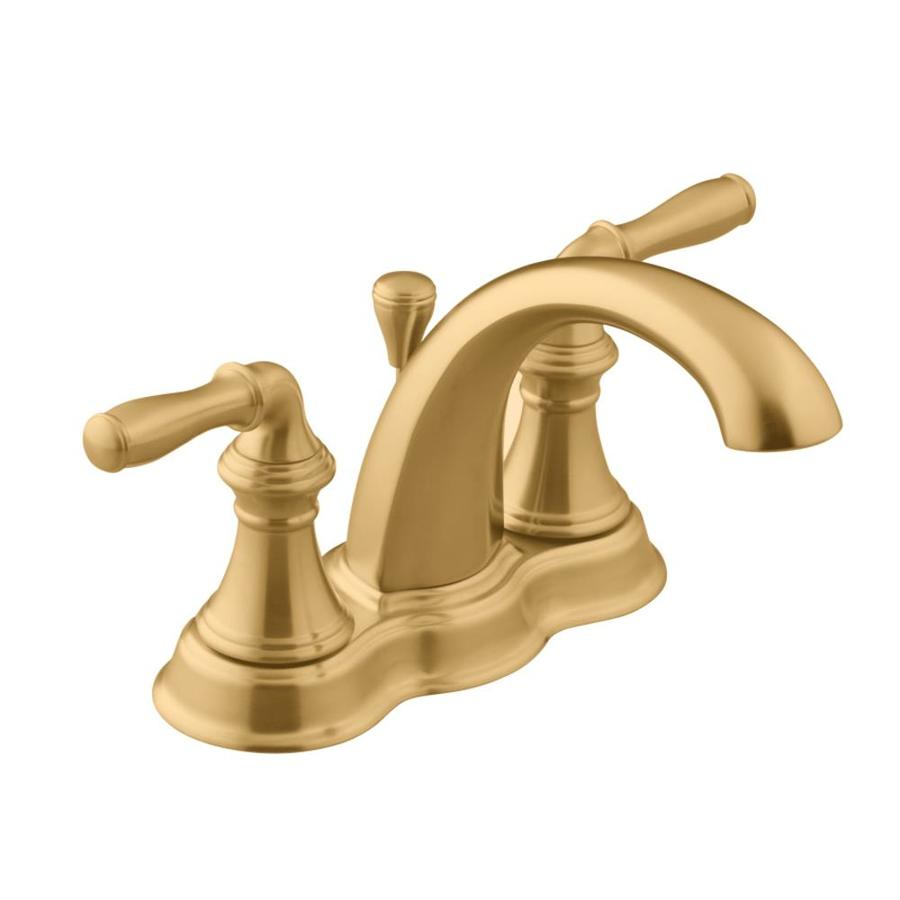 KOHLER Devonshire Vibrant Brushed Bronze 2-Handle 4-in Centerset WaterSense Bathroom Faucet (Drain Included)