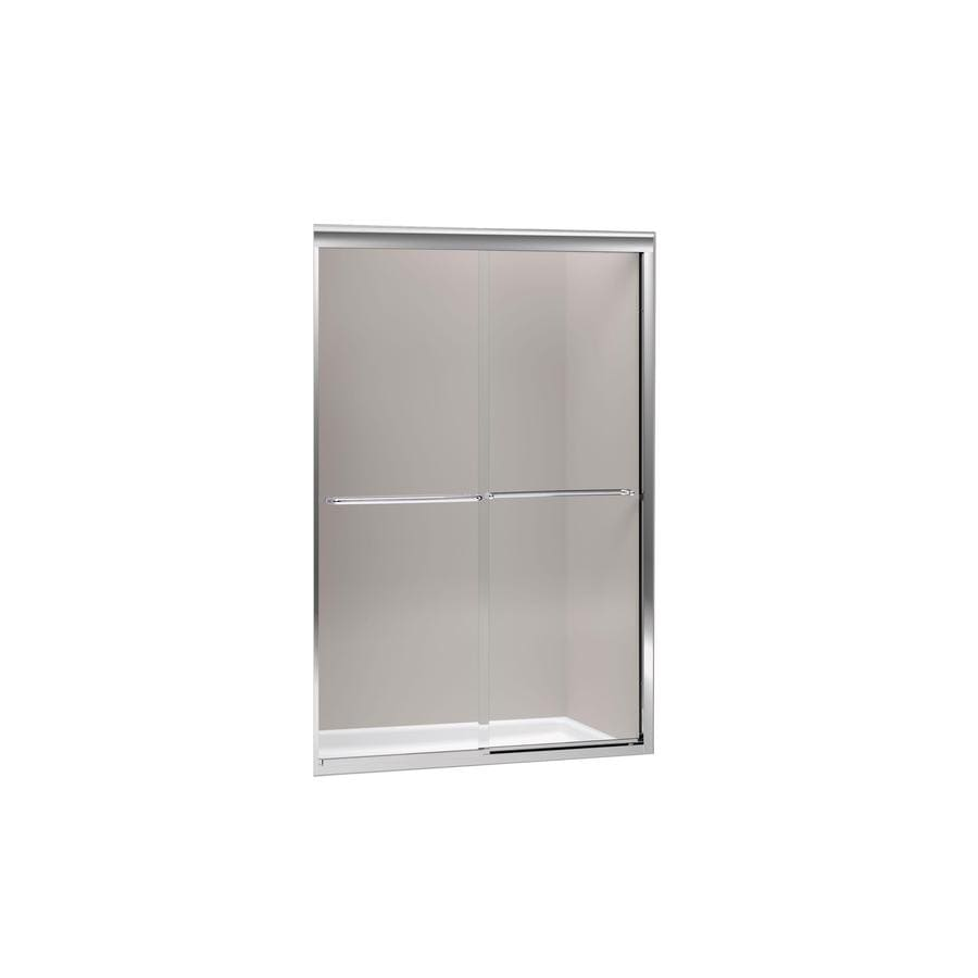 KOHLER Fluence 37-in to 40-in W x 76-in H Frameless Sliding Shower Door