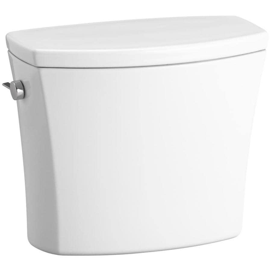 KOHLER Kelston White 1.28-GPF (4.85-LPF) 12-in Rough-In Single-Flush High-Efficiency Toilet Tank