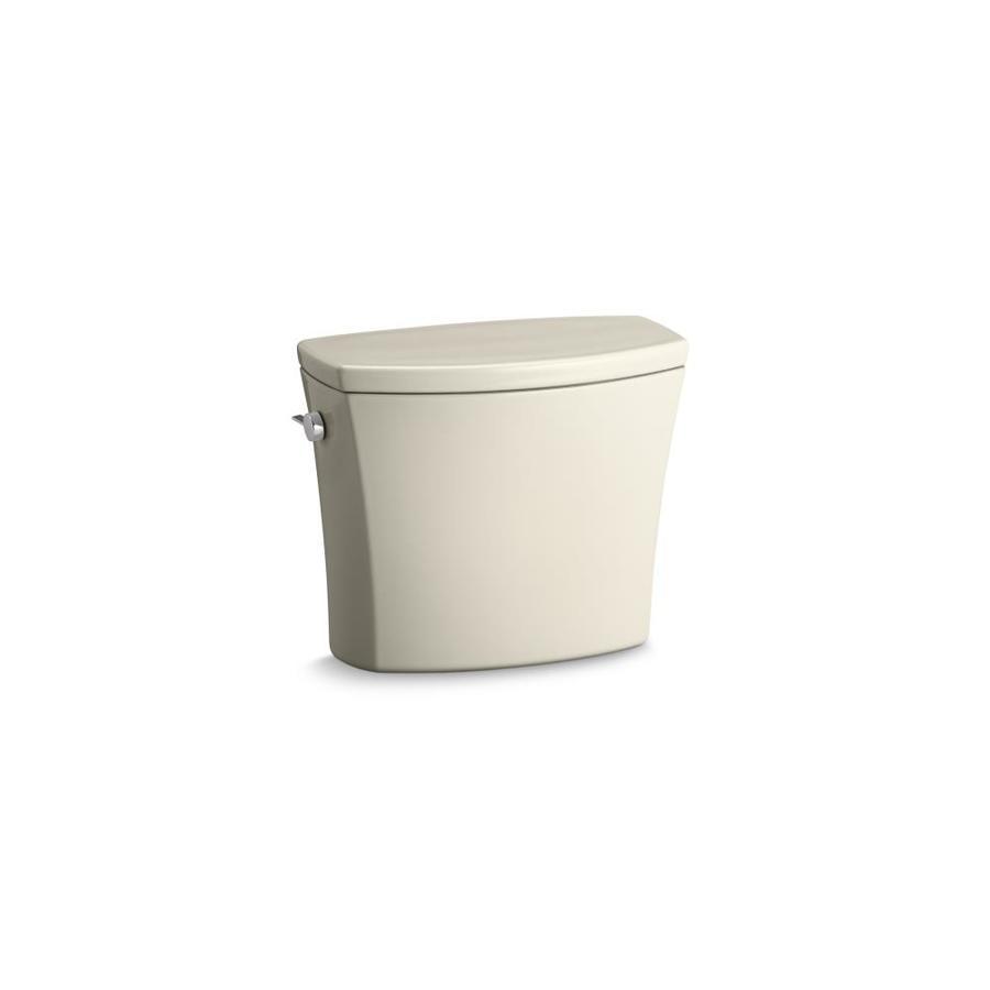 KOHLER Kelston Almond 1.6-GFP (6.06-LPF) 12-in Rough-in Single-Flush Toilet Tank