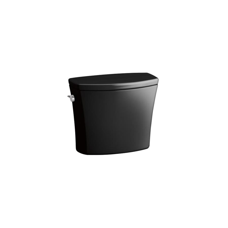 KOHLER Kelston Black Black 1.6-GPF (6.06-LPF) 12-in Rough-In Single-Flush Toilet Tank