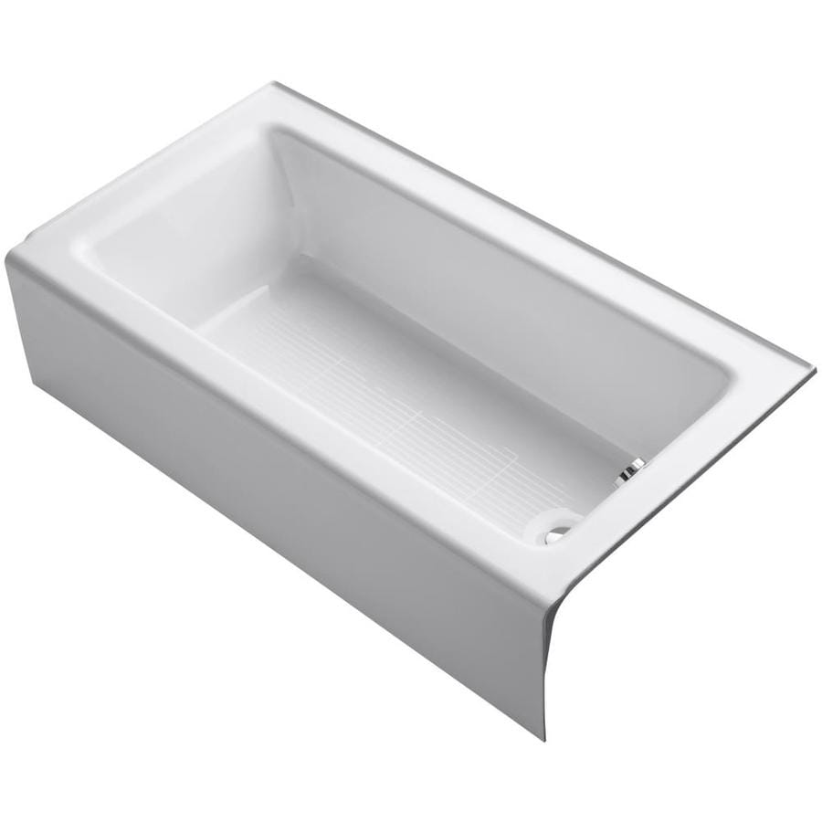 Bellwether White Cast Iron Rectangular Skirted Bathtub with Right-Hand Drain (Common: 32-in x 60-in; Actual: 14.875-in x 32-in x 60-in) Product Photo