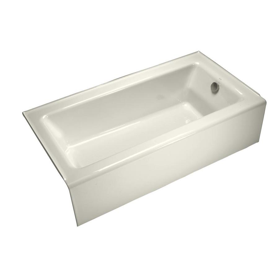 kohler bellwether biscuit cast iron rectangular skirted bathtub with