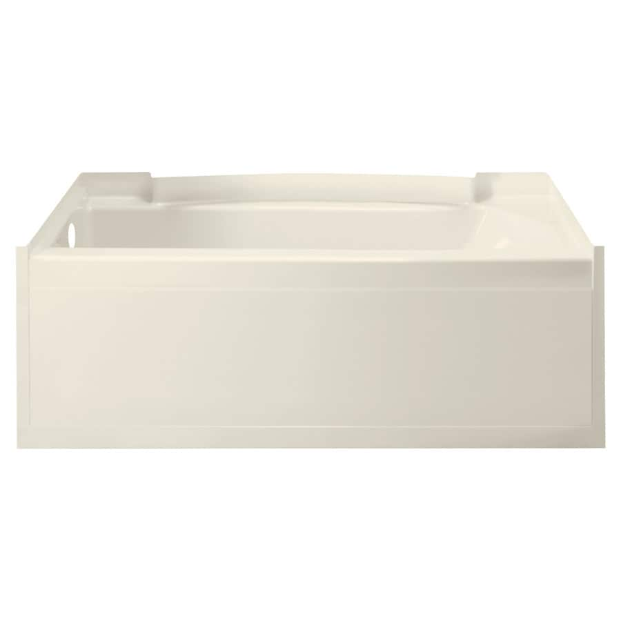 Sterling Accord Biscuit Fiberglass and Plastic Composite Rectangular Skirted Bathtub with Left-Hand Drain (Common: 32-in x 60-in; Actual: 21-in x 32-in x 60.25-in)