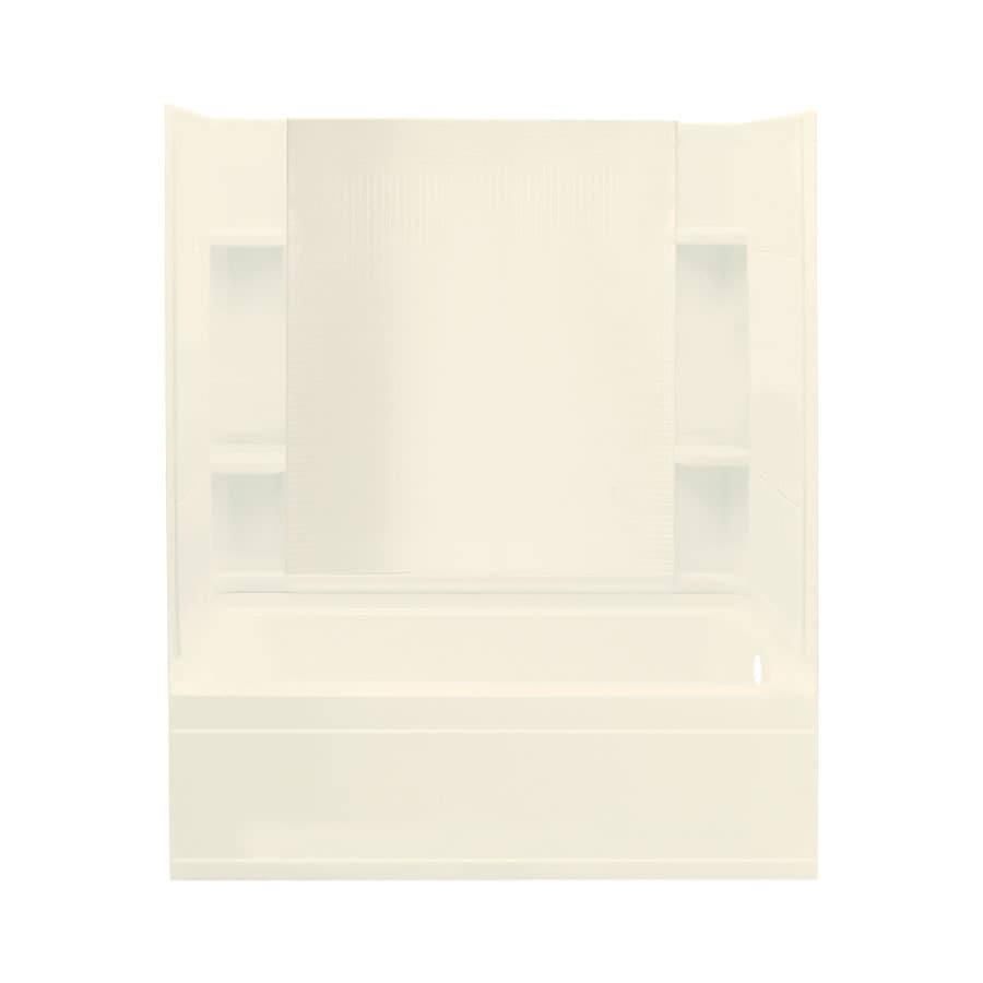 Sterling Accord Biscuit Fiberglass and Plastic Composite Rectangular Skirted Bathtub with Right-Hand Drain (Common: 32-in x 60-in; Actual: 75.5-in x 32-in x 60.25-in)