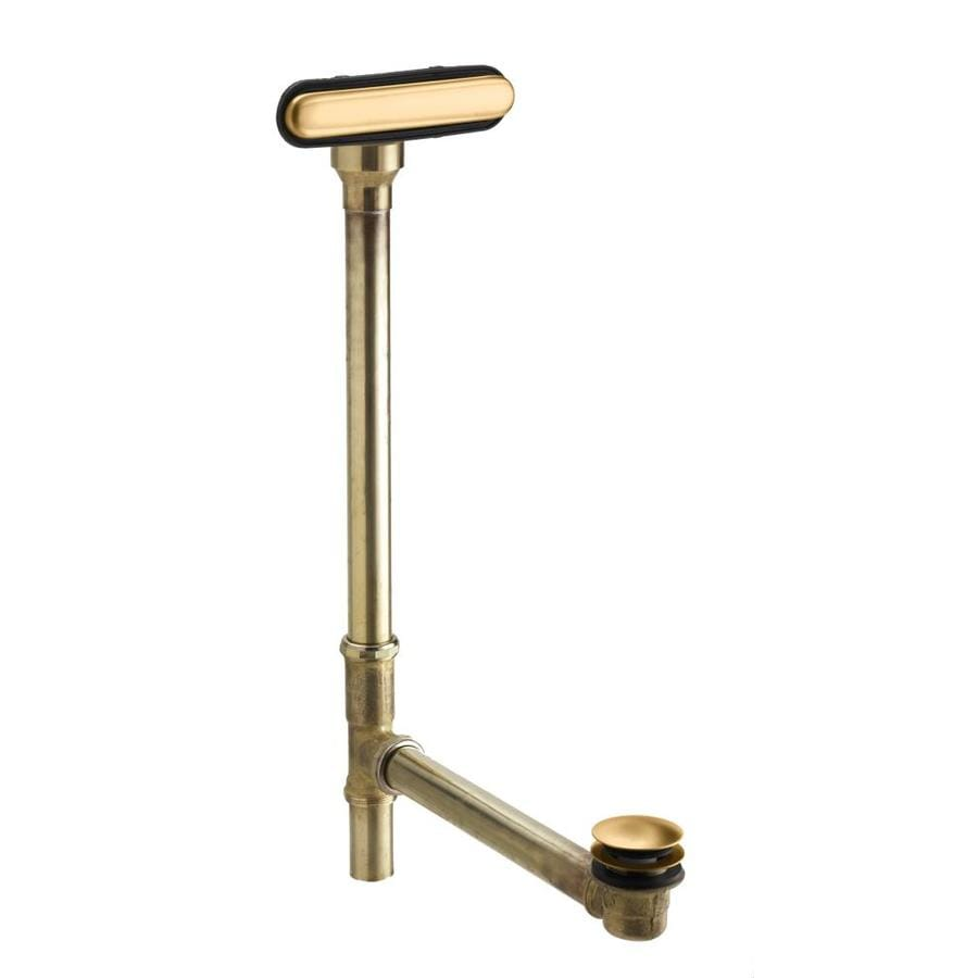 KOHLER 1-1/2-in Vibrant Brushed Bronze Foot Lock with Brass Pipe
