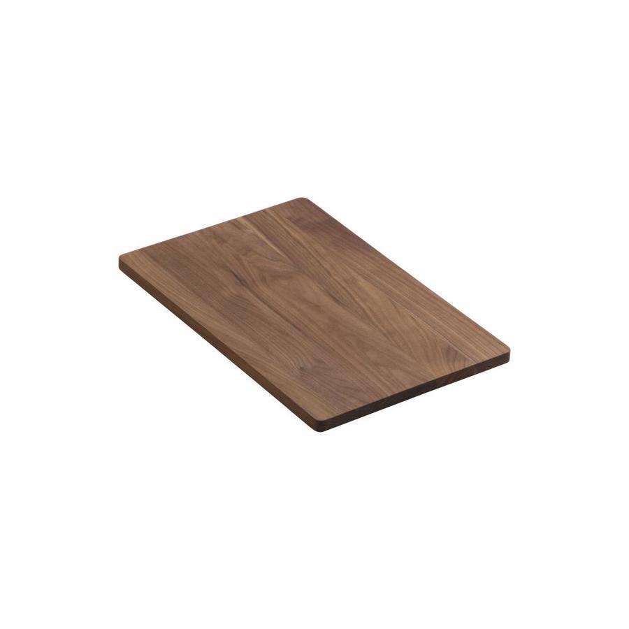 KOHLER 18.25-in L x 12-in W Wood Cutting Board