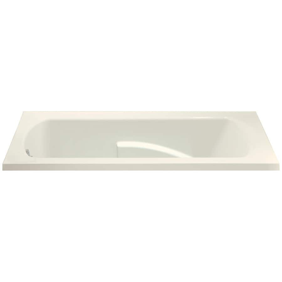 Sterling Lawson Biscuit Vikrell Rectangular Drop-In Bathtub with Reversible Drain (Common: 36-in x 60-in; Actual: 20.3125-in x 36-in x 60-in)