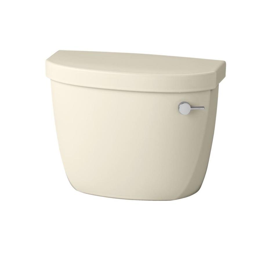 KOHLER Cimarron Almond 1.28-GPF (4.85-LPF) 12-in Rough-in Single-Flush High-Efficiency Toilet Tank