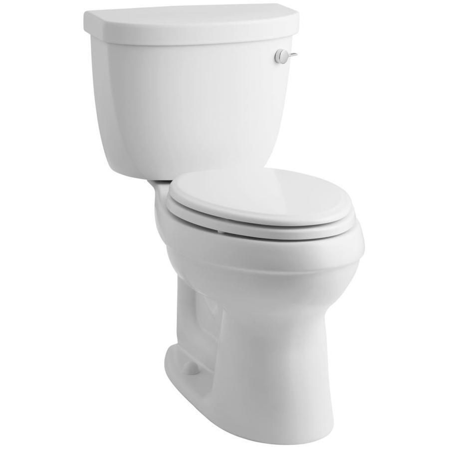 KOHLER Cimarron White 1.28-GPF (4.85-LPF) 12 Rough-In WaterSense Elongated 2-Piece Chair Height Toilet