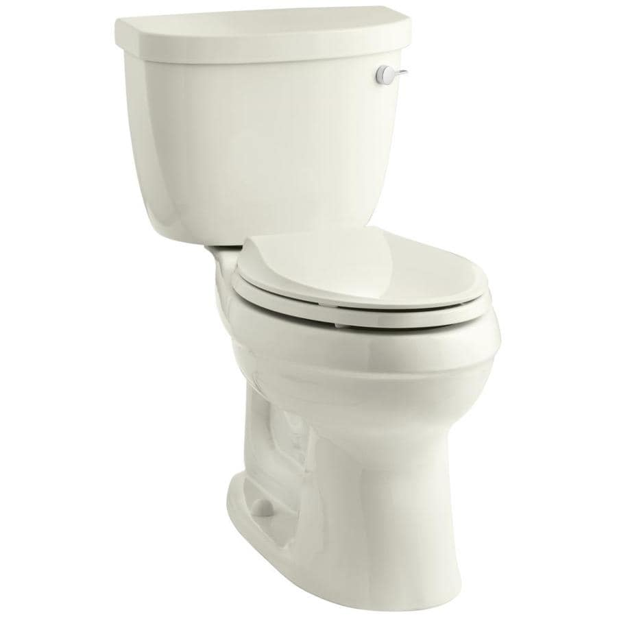 KOHLER Cimarron Biscuit 1.28-GPF (4.85-LPF) 12 Rough-In WaterSense Elongated 2-Piece Chair Height Toilet