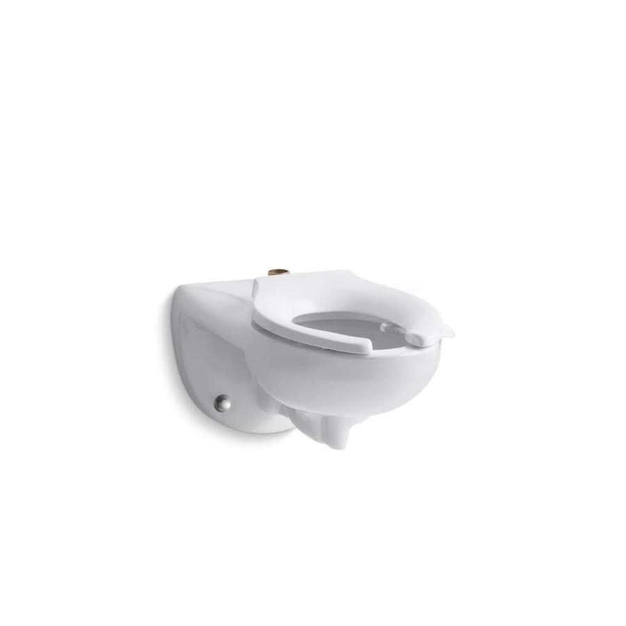KOHLER Kingston White 1.28-GPF (4.85-LPF) Wall-Hung Elongated Pressure Assist 1-Piece Chair Height Toilet