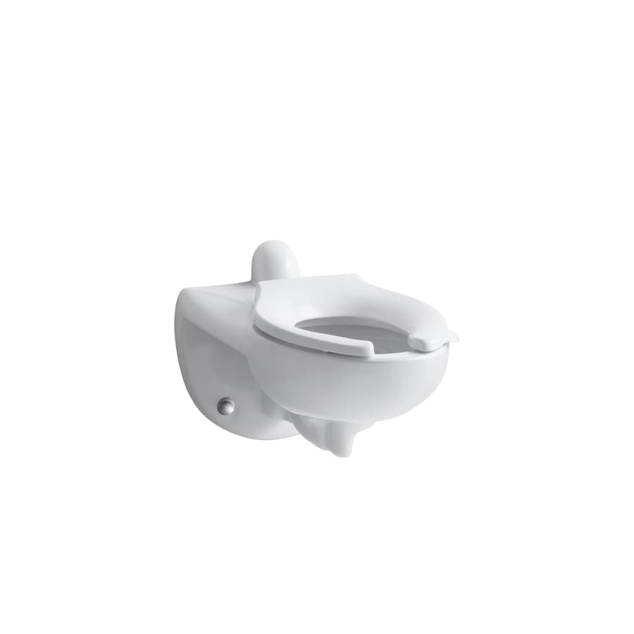 KOHLER Kingston White 1.28-GPF (4.85-LPF) Wall-Hung Elongated Pressure Assist 1-Piece Chair Height Rear Outlet Toilet