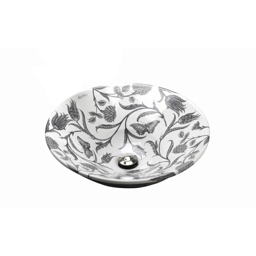 KOHLER Conical Bell White Vessel Round Bathroom Sink