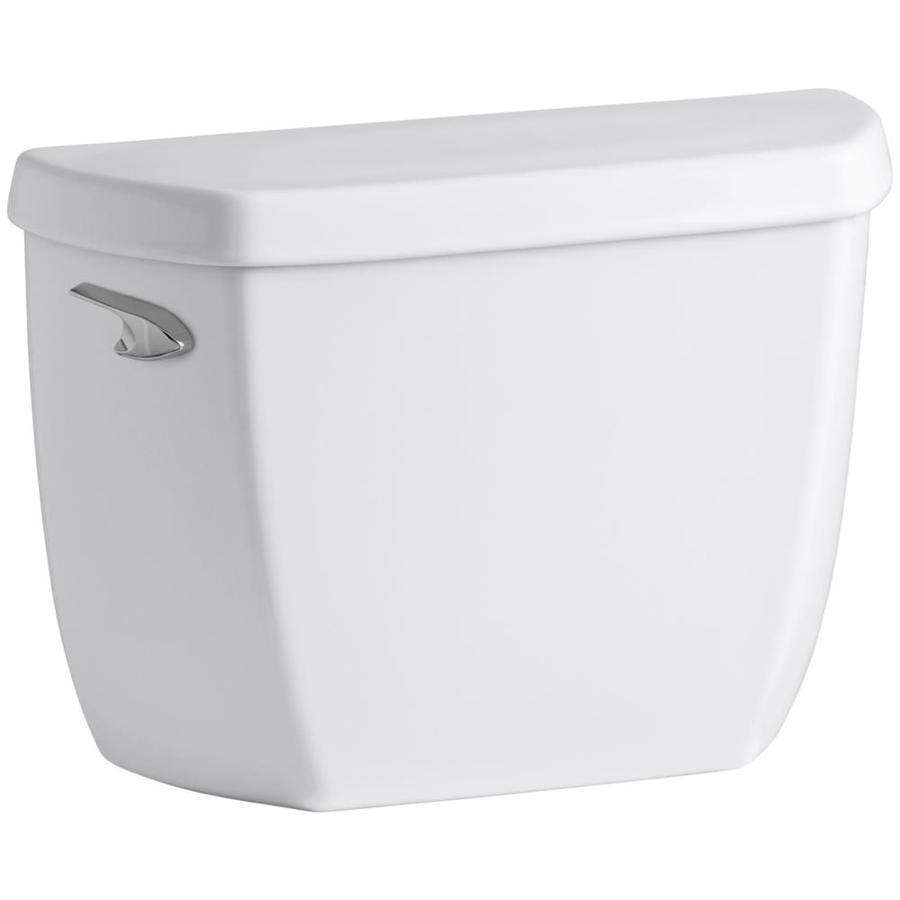 KOHLER Wellworth White 1.28-GPF (4.85-LPF) 12-in Rough-In Single-Flush High-Efficiency Toilet Tank