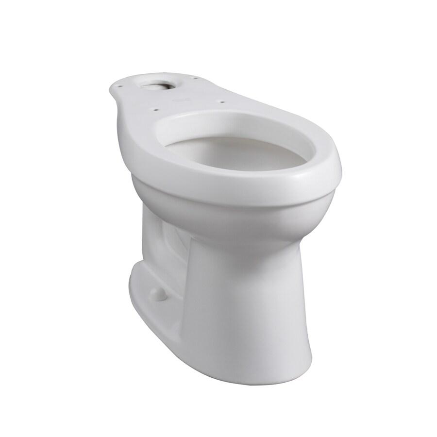 KOHLER Cimarron Chair Height Honed White 12-in Rough-In Elongated Toilet Bowl