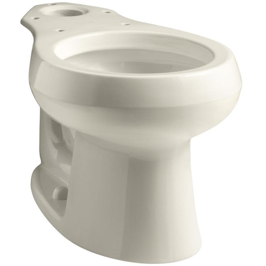 KOHLER Wellworth Standard Height Almond 12-in Rough-In Round Toilet Bowl