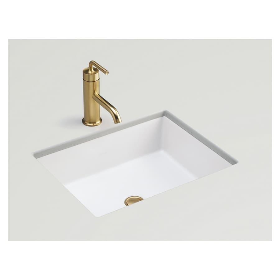 Shop Kohler Kathryn Honed White Undermount Bath Sink At