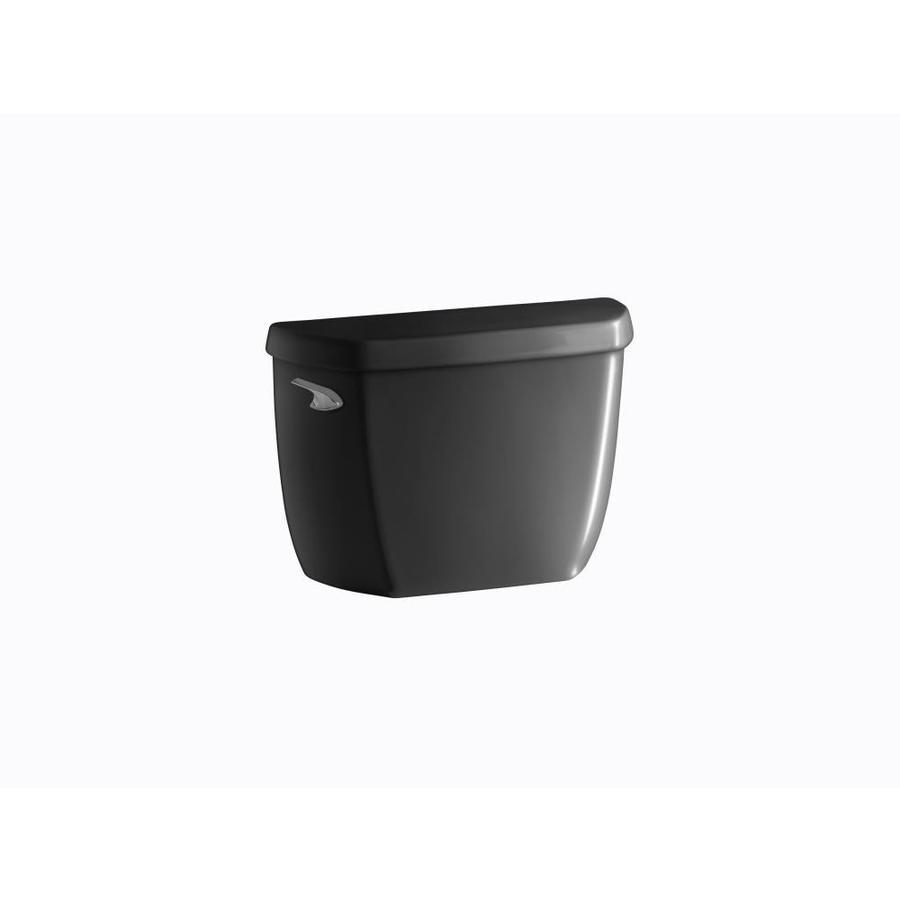 KOHLER Wellworth Black 1.28-GPF (4.85-LPF) 12-in Rough-In Pressure Assist Single-Flush High-Efficiency Toilet Tank