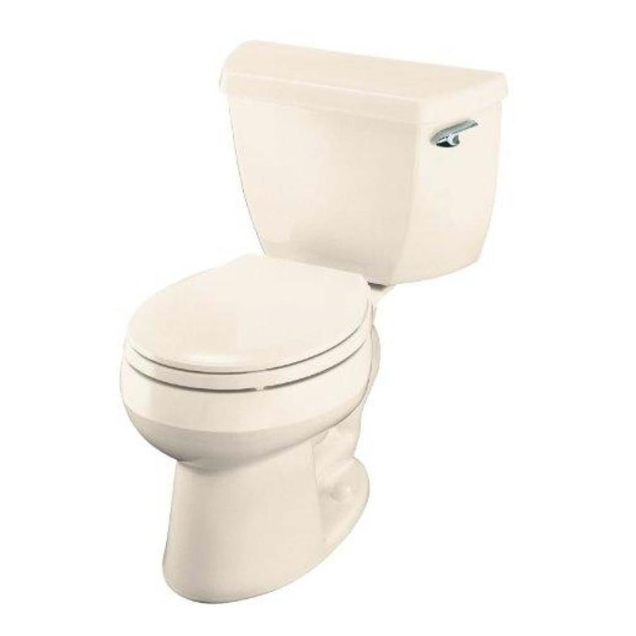 KOHLER Wellworth Almond 1.28-GPF (4.85-LPF) 12 Rough-In WaterSense Round 2-Piece Standard Height Toilet