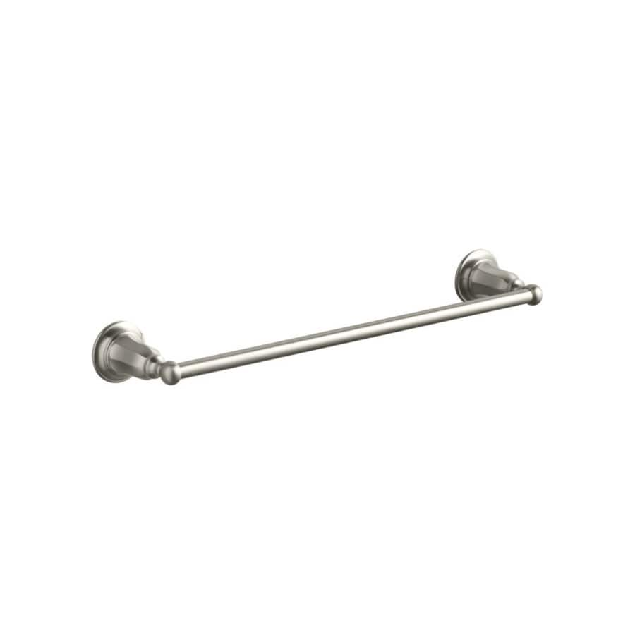 KOHLER Kelston Vibrant Brushed Nickel Single Towel Bar (Common: 18-in; Actual: 20.4375-in)